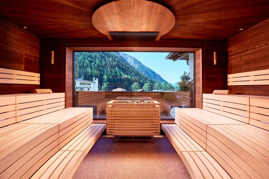 Sauna Bio Alpine Wellnesshotel Karwendel Pertisau pres du lac Achensee Tyrol