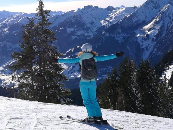 La passion de Sabine, le ski